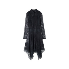 bebe/bebe【Designer Womenwear】2019冬季新品 女士连衣裙 蕾丝收腰花边连衣裙 450050图片