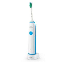 Philips/飞利浦电动牙刷声波震动水洗 成人充电式自动牙刷 浅蓝色HX3216/01图片