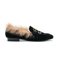 19冬新OZLANA AU/OZLANA AU星辰皮草乐福鞋 AU196001女士乐福鞋图片