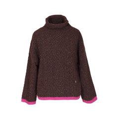 【ONTIME】【Designer Womenwear 19秋冬新品】Lou de Nannan/Lou de Nannan 麻花宽松款立领廓形羊毛上衣 两色 女士针织衫/毛衣图片