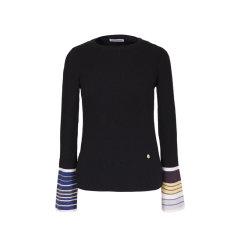 【ONTIME】【Designer Womenwear 19秋冬新品】Lou de Nannan/Lou de Nannan 罗纹袖口提花毛衣 两色 女士针织衫/毛衣图片