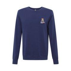 MOSCHINO/莫斯奇诺 蓝色棉质小熊logo圆领套头长袖男卫衣 1 A1801 8103图片