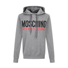 MOSCHINO/莫斯奇诺 灰色棉质连帽套头长袖女卫衣外套 Z A1711 9001图片