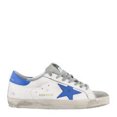 GOLDEN GOOSE DELUXE BRAND GGDB 男士白色彩尾小牛皮超级明星运动鞋小脏鞋休闲鞋板鞋男鞋 G35MS590图片
