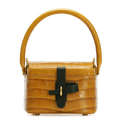 【Designer Bags】BEN by SONG/BEN by SONG设计师原创复古篮子包女士2020新款小众个性斜跨牛皮医生包图片