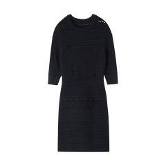 bebe/bebe【Designer Womenwear】2019冬季新品 女士连衣裙 仿蕾丝花纹针织连衣裙 450021图片