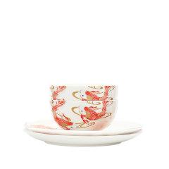 【新品】JingRepublic/共禾京品鲤金系列双人中式送礼品骨瓷餐具盘子四件套/五件套图片