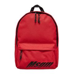 【MSGM】19年新品 男士徽标双肩包 书包 黑/红色 BACK PACK图片