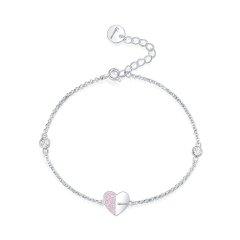 Lasvenia/Lasvenia 白钻粉钻爱心情书手链  时尚女士 925银 耳环耳饰耳坠 两色可选图片