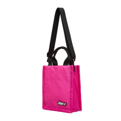 【MSGM】19年新品 女士 徽标迷你 托特包 手提袋 TOTE BAG 黑/粉色图片