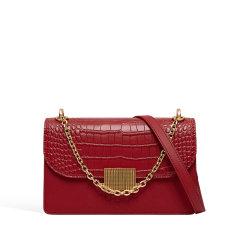 VANESSA HOGAN/VANESSA HOGAN VH女士包包时尚潮流斜挎包百搭质感单肩包链条牛皮革小方包图片