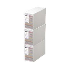 3件套日本进口叠加组合整理箱   密封防潮收纳盒衣物收纳箱 利快likeit抽屉收纳柜儿童简易衣柜 (1号,2号,3号,4号,5号预售,预计5月中旬发货)图片