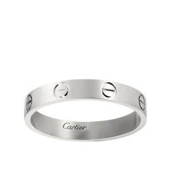 【包税】CARTIER/卡地亚 经典款LOVE 18K金白金结婚对戒戒指 B4085100图片