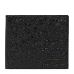 PRADA/普拉达 男士黑色Saffiano 皮革折叠短款钱包钱夹 2MO513-2MB8-F0002图片