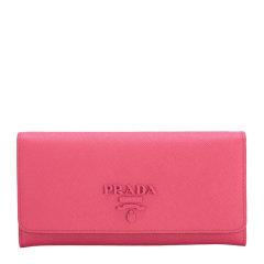 PRADA/普拉达 女士红色牛皮字母LOGO标识十字纹长款翻盖钱包钱夹手拿包零钱包女包1MH132-2EBW多色可选图片