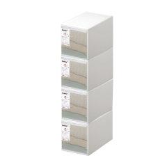 4件套日本进口叠加组合整理箱  密封防潮收纳盒  利快likeit抽屉收纳柜儿童衣柜衣物收纳箱(1号、2号、3号、4号、5号预售,预计5月中旬到货)图片