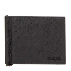 PRADA/普拉达 Saffiano男士短款折叠钱包卡包零钱包 男包2MN077-ZLP多色可选图片