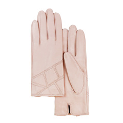 MARJA KURKI/玛丽亚古琦 女士绵羊皮手套 真皮薄绒里内层保暖【爱丽萨贝蒂】图片