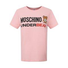 MOSCHINO/莫斯奇诺女士字母印花款小熊logo短袖T恤 A 1904 9003 0030图片