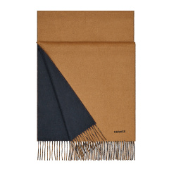 HERMES/爱马仕  Scarf/ShawlScarves   HERMES/爱马仕 驼色/海军蓝 双面围巾(100%山羊绒)图片