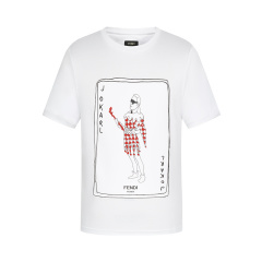 19 FENDI/芬迪 棉质印花图案男士短袖T恤 FY0894 A6ZP图片