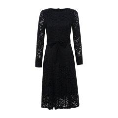19秋冬【DesignerWomenwear】PESARO/PESARO圆领镂空休闲长袖女士连衣裙图片