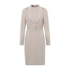 19秋冬【DesignerWomenwear】PESARO/PESARO花边领系带木耳边长袖女士连衣裙图片