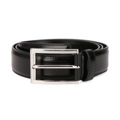 PRADA/普拉达男士黑色牛皮商务针扣式腰带B-CDX图片
