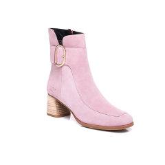 【澳洲直邮】Everugg 羊毛雪地靴羊皮羊毛6cm粗跟短筒时尚款粗跟 短靴女 21571图片