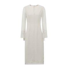 19秋冬【DesignerWomenwear】PESARO/PESARO圆领拼接飘带长款长袖女士连衣裙图片