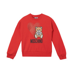 19秋冬MOSCHINOKIDS/MOSCHINOKIDS男女童混纺小熊图案加绒薄款卫衣图片