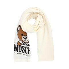 【清仓】【包税】MOSCHINO/莫斯奇诺   情侣围巾新款小熊无流苏羊毛长款围巾图片