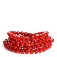 MIKO/蜜库 南红玛瑙系列 女士满红满肉南红玛瑙素珠手串 文玩项链图片