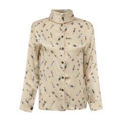 19秋冬【DesignerWomenwear】PESARO/PESARO立领纽扣印花女士长袖衬衫图片