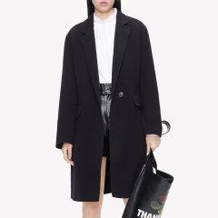 MO&Co./摩安珂女士大衣MOCO2018冬季新品翻领羊毛呢大衣外套MA184OVC113图片
