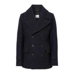 BURBERRY/博柏利 19秋冬 男士羊毛翻领短款双排纽扣毛呢大衣外套图片
