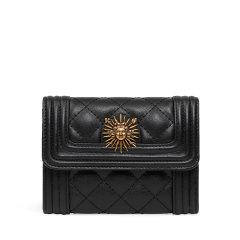VANESSA HOGAN/VANESSA HOGAN VH女士包包时尚短款牛皮革钱包太阳神复古菱形格零钱包高级感钱包图片