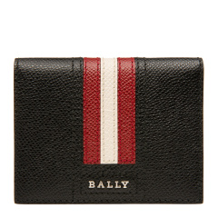 Bally/巴利 男士黑色皮质条纹卡片卡夹图片