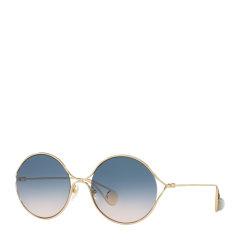 GUCCI/古驰女士时尚潮流双色渐变圆形墨镜太阳镜眼镜 GG0253S多色可选图片