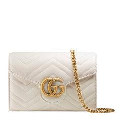 【包邮包税】GUCCI/古驰 20春夏 GG Marmont系列 女士牛皮双G标识时尚链条单肩斜挎包图片