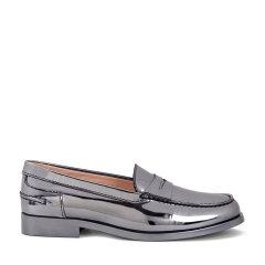 TOD'S/托德斯 女士 金属色镜面牛皮鞋面 闪亮牛皮乐福鞋 平底鞋图片