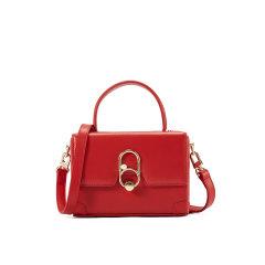 Emini House/伊米妮包女士包新款时尚牛皮潮流手提单肩斜挎复古珍珠盒子包图片