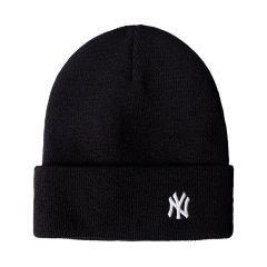 MLB 美职棒毛线帽针织帽 NY字母刺绣男女情侣秋冬韩版黑色金标图片