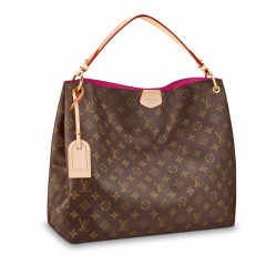 Louis Vuitton/路易威登LV女包GRACEFUL MM老花棋盘格手提包 LV女士 LV包  手提包 M43704图片