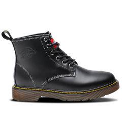 Dickies马丁靴男冬季女加绒新英伦风真皮工装鞋高帮皮靴军靴情侣靴潮流194M50LXS29M图片