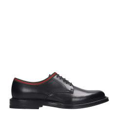 GUCCI/古驰 19年秋冬 皮革系带鞋 男性 皮鞋 圆头 黑色 商务正装鞋 472749 AZM30 1060图片