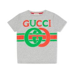 GUCCI/古驰 19年秋冬 gucci服装 男童 蓝色 儿童T恤 561651 XJBCG 4585图片