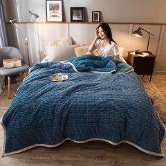MY SIDE 秋冬新品毛毯 牛奶绒保暖毯子 秋冬加厚魔法绒盖毯图片