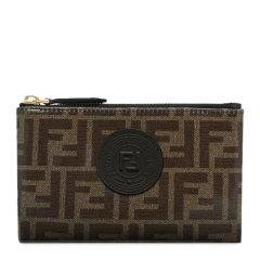 【包邮包税】Fendi/芬迪 20春夏  女士小牛皮经典复古双F时尚钱包手拿包卡包图片
