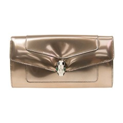BVLGARI/宝格丽  钱包 经典款SERPENTI FOREVER 系列女士古铜金色金属漆皮质感 珐琅蛇头皮革长款手拿包钱包 283670图片